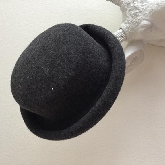 7ecba57d21fb8 Topshop Charcoal Grey Felt Bowler Style Hat